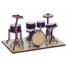 Miniatura em MDF - Instrumento Musical - Bateria