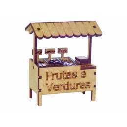 Miniatura em MDF - Comércio - Banca de Frutas e Verduras
