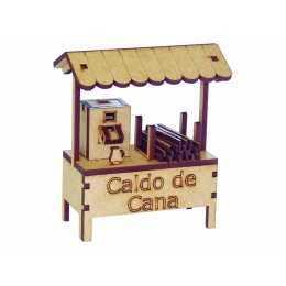 Miniatura em MDF - Comércio - Banca de Caldo de Cana