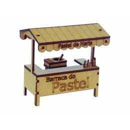 Miniatura em MDF - Comércio - Banca de Pastel da Maria