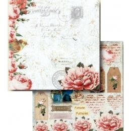 Folha para Scrapbook Dupla Face - LSCD413 - Memories, Peace, Serenity