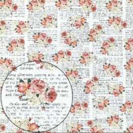 LSC303 - Pequenos Arranjos de Flores no Fundo com Escritos
