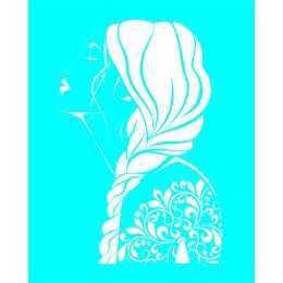 Stencil de Acetato 20x25cm - LSG081 - Mulher com Tranças