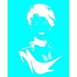 Stencil de Acetato 20x25cm - LSG085 - Moça