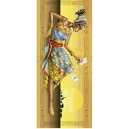 Papel para Arte Francesa 20x48cm - LFR17-Africana Deitada