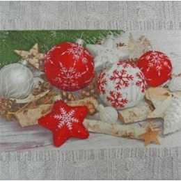 Enfeites de Natal com Barrado Cinza (974)