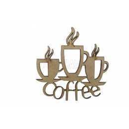 Aplique em MDF - Coffee