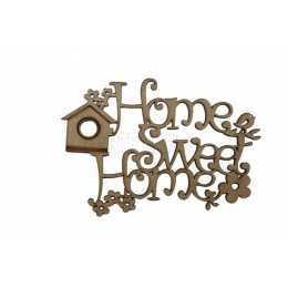 Aplique em MDF - Home Sweet Home