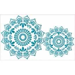 Stencil de Acetato Litoarte 21x34,4cm - ST307 - Mandala