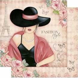 SD770 - Dama com Chapéu - Fashion Style