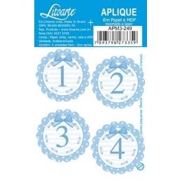 APM3 - 249 - Números azuis 1 ao 4 - 4 Unidades