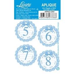 APM3 - 250 - Números Azuis 5 ao 8 - 4 Unidades