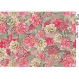 Papel para Decoupage-Opapel 2391 - Estampa Hibisco