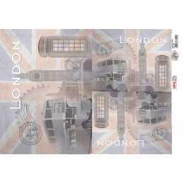 Papel para Decoupage-Opapel 2401 - Cidades Londres