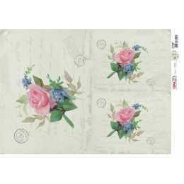 Papel para Decoupage-Opapel 2380 - Flor Rosa IV