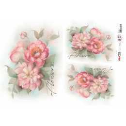Papel para Decoupage-Opapel 2400 - Flowers