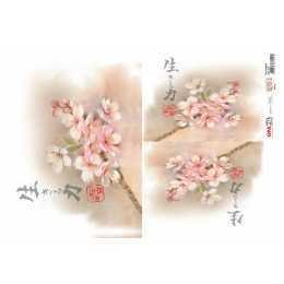 Papel para Decoupage-Opapel 2314 - Flor Cerejeira