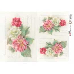 Papel para Decoupage-Opapel 2394 - Flor Hibisco Dobrado