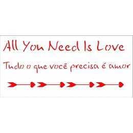 OPA 2322 - Frase Amor - 7x15cm