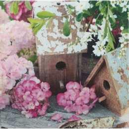 Pequenas Flores Rosa e Casinha de Passarinho (60)