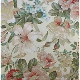 Guardanapo Flores c/ Ibisco em Tons Pastéis (379)