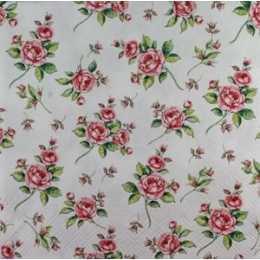 Guardanapo Pequenos Arranjos de Flores Rosas (987)