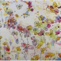 Guardanapo Desenhos de Flores Coloridas (993)