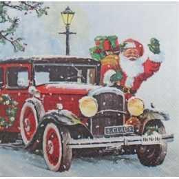 Guardanapo Papai Noel no Carro (468)