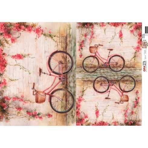 Papel para Decoupage-Opapel 2521 - Bicicleta