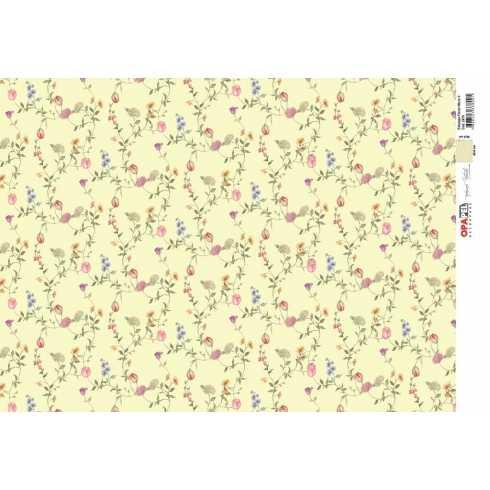 Papel para Decoupage-Opapel 2479 - Estampa Flores Micro II