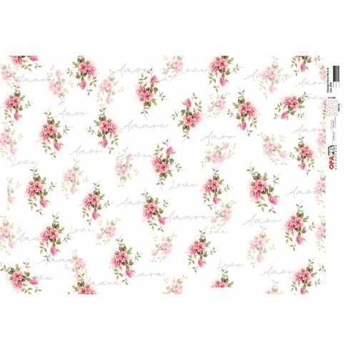 Papel para Decoupage-Opapel 2530 - Estampa Flores Micro III