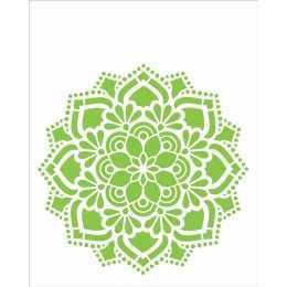 Stencil de Acetato OPA 20x25cm - OPA 2461 - Mandala Flor Renda