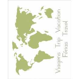 Stencil de Acetato OPA 20x25cm - OPA 2511 - Mapa