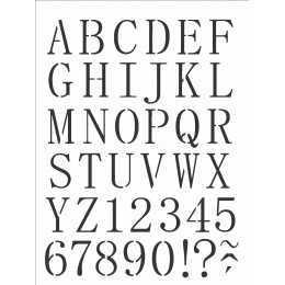 Stencil de Acetato OPA 15x20cm - OPA 2495 Alfabeto Reto Maiúsculo