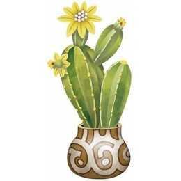 Aplique em Papel e MDF - APM8 - 977 - Cactus