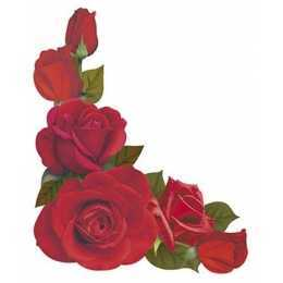 Aplique em Papel e MDF - APM8 - 984 - Cantoneira de Rosas