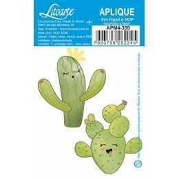 Aplique em Papel e MDF - APM4 - 359 - Cactus - 2 Unidades