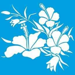 Stencil de Acetato Litoarte 20x20 - STXX067 - Flores