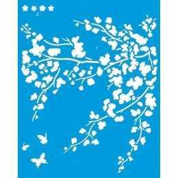 Stencil de Acetato Litoarte 20x25cm - STR074 - Flor de Cerejeira