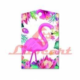 Aplique em Papel e MDF - LMAPC089 - Flamingo