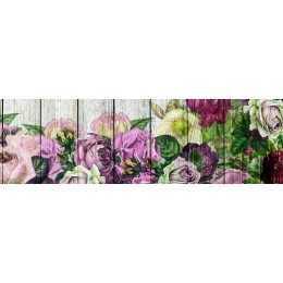Barra Adesiva para Decoupage LB740 - Rosas Coloridas no Tabuado
