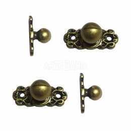 Puxador Bolinha - Cor Ouro Velho - 4 unidades