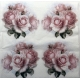 Guardanapo 4 Arranjos de Rosas cor de Rosa F1030