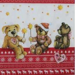 Guardanapo Trio de Ursos Natalinos (865)