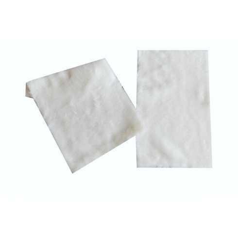 Tecido Sintético de Pelúcia - Branco - 20x25cm