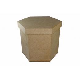 Caixa em MDF - 15x15x15cm Sextavada