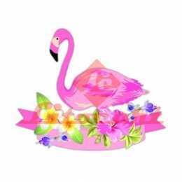 Aplique em Papel e MDF - LMAM082 - Flamingo