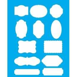Stencil de Acetato Litocart 20x25cm - LSG130 - Tags