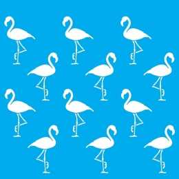 Stencil de Acetato Litocart 20x20cm - LSQ135 - Flamingos