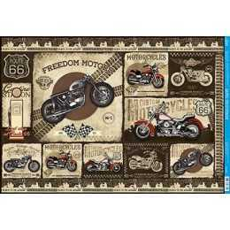 Papel para Decoupage PD981 -Motos